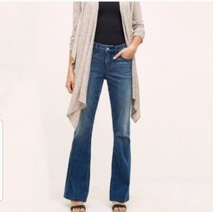 Anthro Pilcro STET mid-rise Flare Jeans size 28